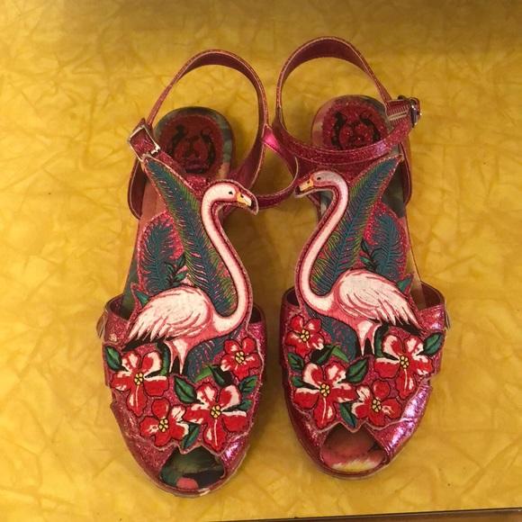 985bddf68fb Miss L fire flamingo Sandles size 10. M 5b65f2ff0945e03e13d1039b